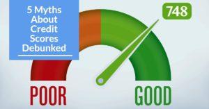 5 Myths of Credit Scores Debunked